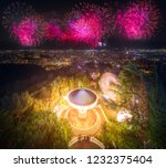 barcelona night view from... | Shutterstock . vector #1232375404