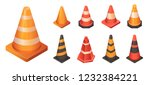 cone traffic icon set.... | Shutterstock .eps vector #1232384221