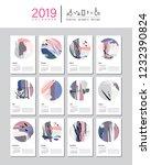 creative calendar template for... | Shutterstock . vector #1232390824