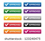 approved buttons. vector... | Shutterstock . vector #123240475