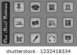 finance vector web icons on the ... | Shutterstock .eps vector #1232418334