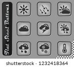 weather vector web icons on the ... | Shutterstock .eps vector #1232418364