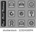 seals vector web icons on the... | Shutterstock .eps vector #1232418394