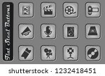 film industry vector web icons... | Shutterstock .eps vector #1232418451