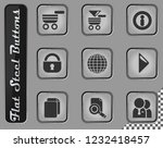 navigation vector web icons on... | Shutterstock .eps vector #1232418457