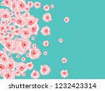 floral summer poster with pink... | Shutterstock .eps vector #1232423314