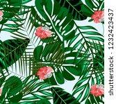 beautiful tropical seamless... | Shutterstock .eps vector #1232423437