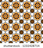 Tiles arabesque style pattern, usually used in tiles in Spain, Portugal and other Mediterranean and arabic countries
