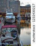 london  uk   march 2018  yachts ... | Shutterstock . vector #1232430217