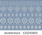 old blue ornament texture vector | Shutterstock .eps vector #123243601