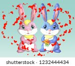 happy valentine's day. love... | Shutterstock .eps vector #1232444434