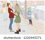 hand drawn vector illustration. ... | Shutterstock .eps vector #1232445271