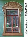 Carved Window And Frame Of...