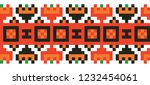 colored embroidery like cross... | Shutterstock .eps vector #1232454061