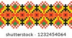 colored embroidery like cross... | Shutterstock .eps vector #1232454064