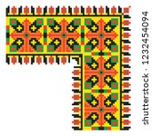 colored embroidery like cross... | Shutterstock .eps vector #1232454094
