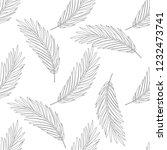 vector flower black white... | Shutterstock .eps vector #1232473741