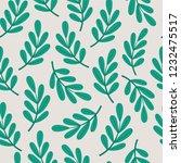 leaves pattern. vector... | Shutterstock .eps vector #1232475517