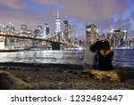 people in brooklyn bridge park... | Shutterstock . vector #1232482447