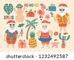 christmas holiday cute elements ... | Shutterstock .eps vector #1232492587