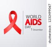 world aids day 1 december.... | Shutterstock .eps vector #1232499067