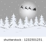 winter landscape. santa claus... | Shutterstock . vector #1232501251