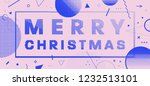merry christmas placard... | Shutterstock .eps vector #1232513101