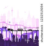 city and busy roads with... | Shutterstock .eps vector #1232515054