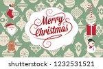 merry christmas greetings | Shutterstock . vector #1232531521