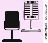 vintage microphone vector... | Shutterstock .eps vector #1232532634