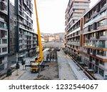 Forklift On Modern Building At...