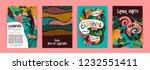 brazil carnival. vector... | Shutterstock .eps vector #1232551411