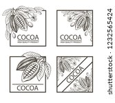 collection of frames with cocoa ... | Shutterstock .eps vector #1232565424