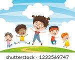 vector illustration of children ... | Shutterstock .eps vector #1232569747