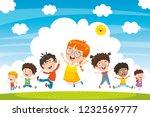 vector illustration of children ... | Shutterstock .eps vector #1232569777