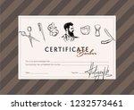 certificate for the school of...   Shutterstock .eps vector #1232573461