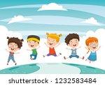 vector illustration of children ... | Shutterstock .eps vector #1232583484