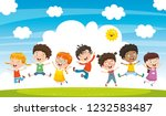 vector illustration of children ... | Shutterstock .eps vector #1232583487