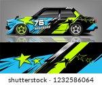 racing car wrap livery design.   Shutterstock .eps vector #1232586064