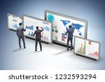 concept of business charts and... | Shutterstock . vector #1232593294