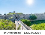 city gate and city walls of... | Shutterstock . vector #1232602297