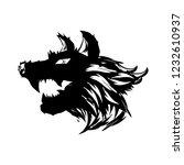 wolf head illustration | Shutterstock .eps vector #1232610937