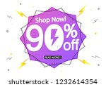 mega sale  90  off  flash... | Shutterstock .eps vector #1232614354