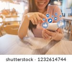 social network sharing and... | Shutterstock . vector #1232614744