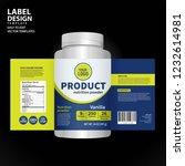 bottle label  package template... | Shutterstock .eps vector #1232614981