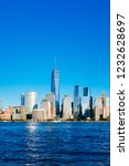 view of the skyline of downtown ... | Shutterstock . vector #1232628697