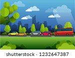 vector illustration  view of... | Shutterstock .eps vector #1232647387