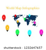 colorful infographic template... | Shutterstock .eps vector #1232647657