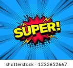 pop art style sound effects ... | Shutterstock .eps vector #1232652667
