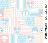 set of cute animal for girl.... | Shutterstock .eps vector #1232662564